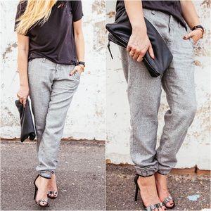 Rag & Bone Trouser Jogger Pants Speckled Grey